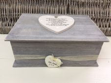 Shabby RUSTIC Chic LARGE Box For Bride From Bridesmaid Wedding Day personalised - 332387225745